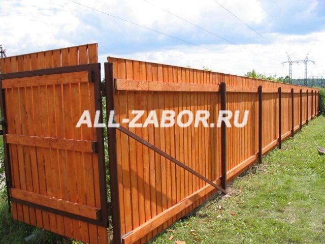 Забор из досок плетеный фото