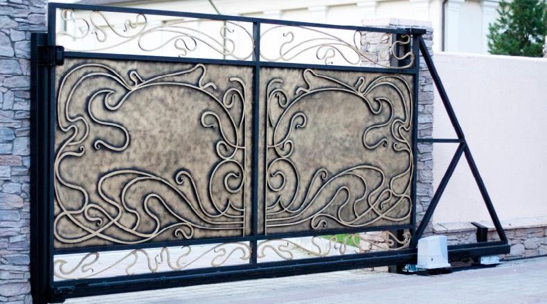 Распашные ворота с автоматикой цена doorhan