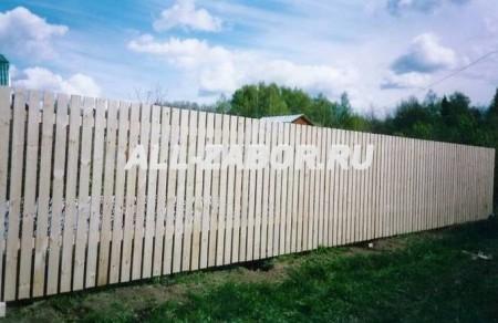 Забор с воротами откатные