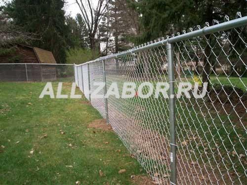 Забор из сетки на металлическом каркасе