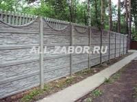 Секционный бетонный забор в 5 панелей