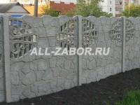 Декоративный бетонный забор в 4 панели