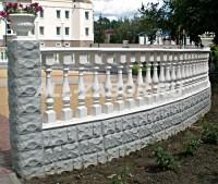 Декоративный бетонный забор с колоннадой