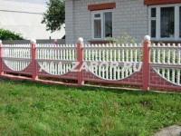 Декоративный бетонный забор в 2 секции
