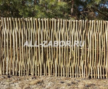 Деревянный забор плетенка 70 м
