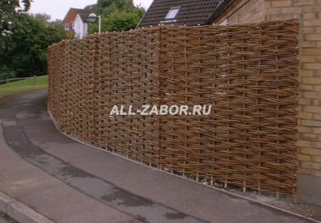 Деревянный забор плетенка 60 м