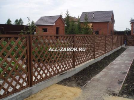 Забор решеткой своими руками фото 42