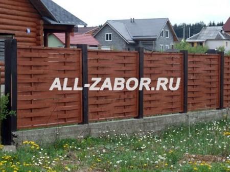 """Деревянный забор """"Плетенка"""""""