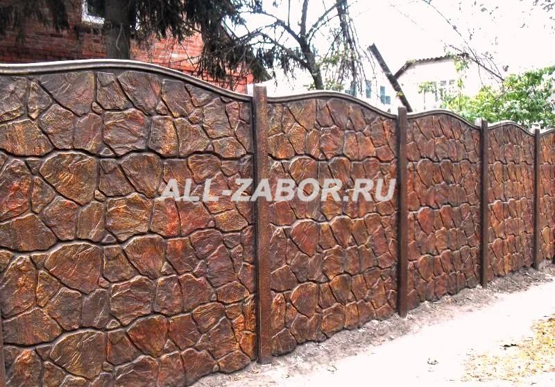 Купить забор из бетона цена бетон молодечно купить