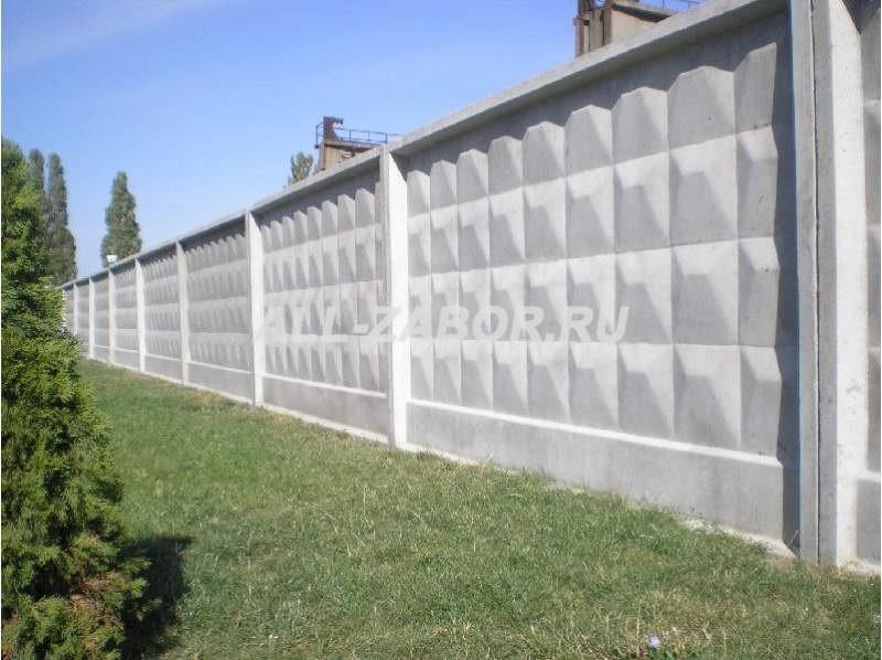 секционные заборы из бетона купить